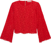 Alice + Olivia Pasha Corded Lace Top - Red