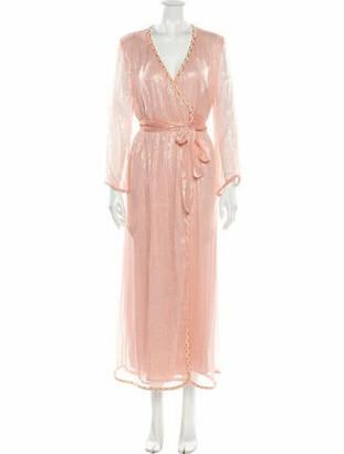MISA V-Neck Long Dress Pink V-Neck Long Dress