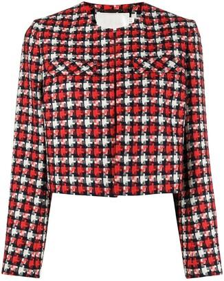 Goat Karina collarless cropped jacket