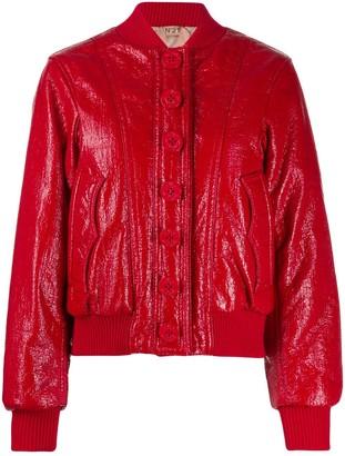 No.21 shiny bomber jacket