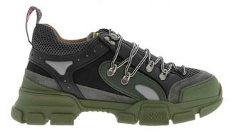 Gucci Flashtrek Green Leather Trainers