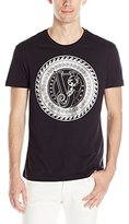 Versace Men's Foil Circle Logo T-Shirt