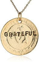 "Alisa Michelle Back To Basics"" Grateful Stamped Chain Necklace, 19.0''"