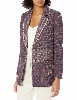 Rebecca Taylor Women's Blanket Tweed-Mix Blazer