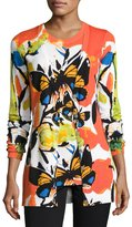 Berek Spicy Butterfly Button-Front Cardigan, Petite