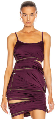 Y/Project Asymmetric Layered Tank Top in Plum | FWRD