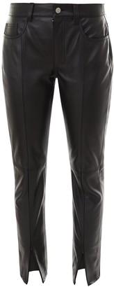 MM6 MAISON MARGIELA Front Slit Leather Trousers