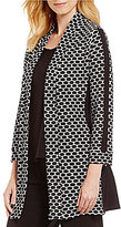 IC Collection Honeycomb Open Front Cardigan