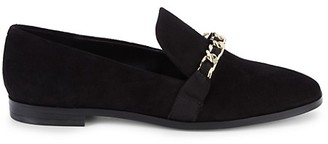 Karl Lagerfeld Paris Luella Chain Embellished Suede Loafers
