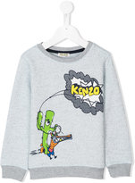 Kenzo logo print sweatshirt - kids - Cotton/Polyester - 2 yrs
