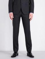 BOSS Birdseye regular-fit wool trousers