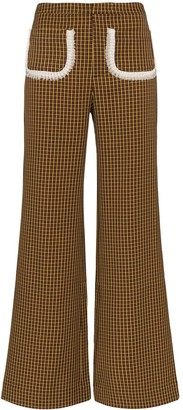 Shrimps Houndstooth Print Trousers