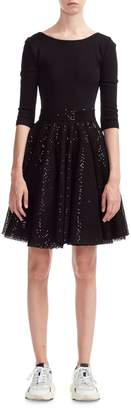 Maje Romy Sequined Fit Flare Dress