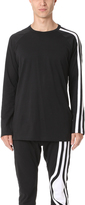 Y-3 Stripes Long Sleeve Tee