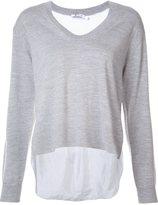 Alexander Wang contrast back sweater - women - Viscose/Merino - S