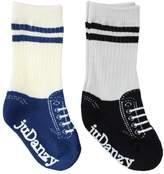 "juDanzy mid-calf boys ""shoe"" socks in argyle print"