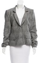 Alberta Ferretti Tweed Notch-Lapel Blazer