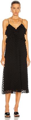 Zimmermann Textured Slip Dress in Black | FWRD