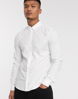HUGO Ero3 oxford shirt in white