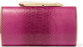 Kotur Bailey Croc-effect Leather Clutch - Pink