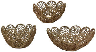 St. Croix Kindwer Jute Rope Baskets with Iron Frames