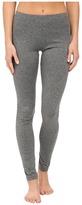 Plush Fleece-Lined Marled Spandex Leggings