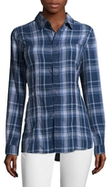 Hudson Britt Plaid Button-Front Shirt