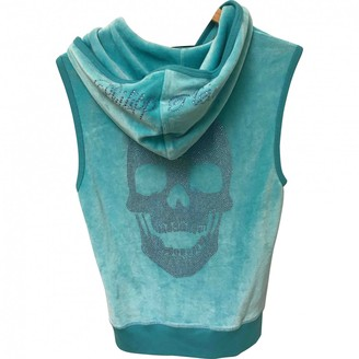 Philipp Plein Turquoise Cotton Knitwear for Women