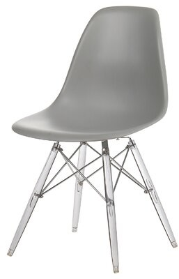 "Wrought Studioâ""¢ Difiore Mid-Century Dining Chair Wrought Studioa Color: Gray"