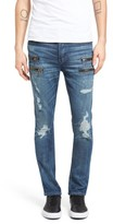 Hudson Men's Broderick Biker Skinny Fit Jeans