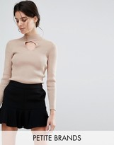 New Look Petite Keyhole Ribbed Sweater