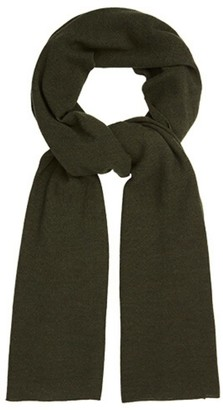 Allora Oversized Knitted Wrap Scarf Deep Olive
