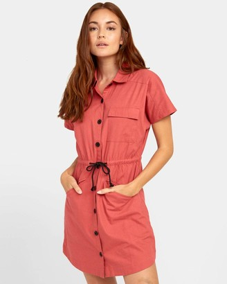 RVCA Women's Educate Woven Shirt Dress