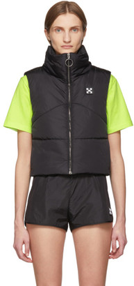 Off-White Black Crop Puffer Vest