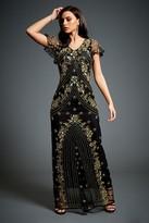 Jywal London Twinkle Black Embellished Evening Maxi Dress