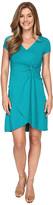 Mod-o-doc Cotton Modal Spandex Faux Wrap Twist Front Dress