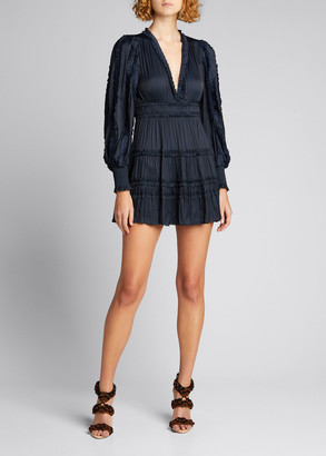 Ulla Johnson Gemma Tiered Satin Mini Dress