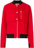 Courreges layered bomber jacket