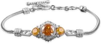 Shop Lc Sterling Silver Sphalerite Bracelet Size 7.25 Inch Ct 5.5 - Bracelet 7.25''