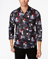 INC International Concepts Men's Abstract Floral Shirt, Created for Macy's