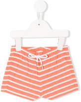 Knot nautical stripes swim shorts