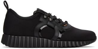 Salvatore Ferragamo Black Wavy Sole Rebekka Sneakers