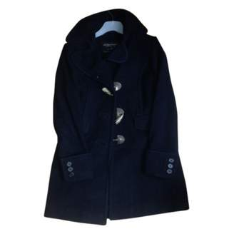 AllSaints Navy Wool Coat for Women