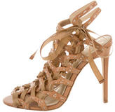 Brian Atwood Caged Lace-Up Sandals