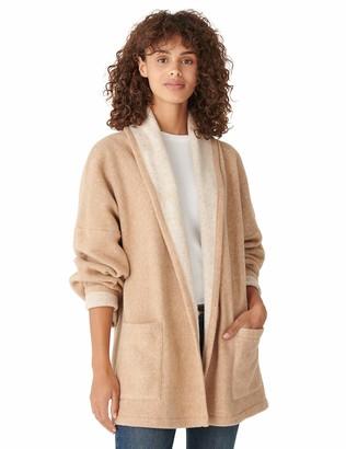 Lucky Brand Women's Long Sleeve Open Front Blanket Stitch Coatigan