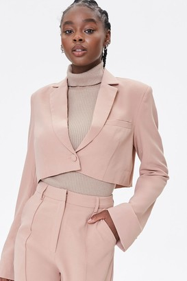 Forever 21 Cropped Notched-Lapel Blazer