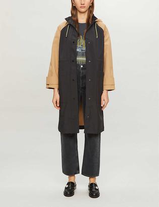 Claudie Pierlot Gipsye hooded woven jacket