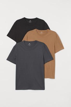 H&M 3-pack Regular Fit T-shirts - Black