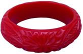 Classic Hardware Carved Bangle Bracelet Red