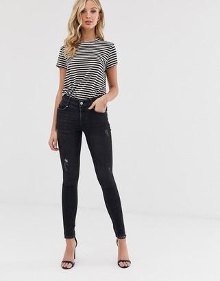 Vero Moda skinny jeans with destroy